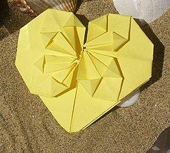 Drobnosti - Žlté srdiečko - 9249966_