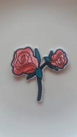Galantéria - Nažehľovačka - ružičky ružové - 9250015_