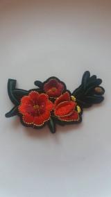 Galantéria - Nažehľovačka - kvety - 9250105_
