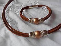 Sady šperkov - Súprava náhrdelník + náramok - 9250513_