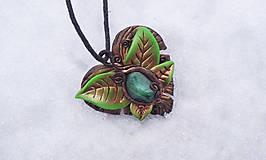 Náhrdelníky - Leaf Náhrdelník - 9251296_