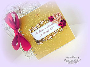 Papiernictvo - Zlaté spomienky na rozlúčku so slobodou - 9249583_