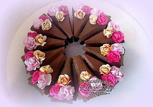 Papiernictvo - Torta s vôňou ruží - 9249780_