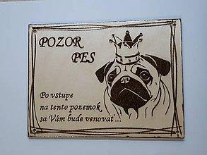 Tabuľky - Pozor pes-mops - 9253074_