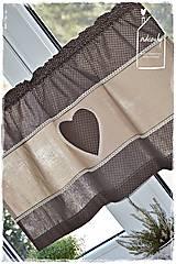 Úžitkový textil - Vitrážka/krátka záclonka - 9249106_