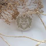 Darčeky pre svadobčanov - Visačka s iniciálami - 9248817_