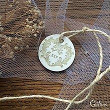 Darčeky pre svadobčanov - Visačka s iniciálami - 9249349_
