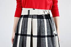 Sukne - Maximálne teplá zimná károvaná sukňa - 9252843_