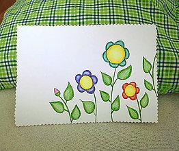 Papiernictvo - Jarná pohľadnica kvety - 9252901_