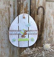 Dekorácie - Závesná dekorácia: Veľkonočné vajíčko - 9254055_