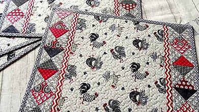 Úžitkový textil - Kohúti z Provence... prestieranie 2 ks - 9253840_