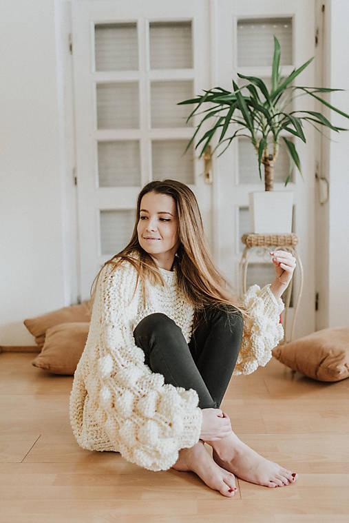 Svetre/Pulóvre - Bubble sweater-yellow - 9254336_