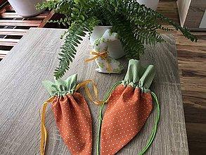 Úžitkový textil - Vrecúško Mrkva - 9255178_