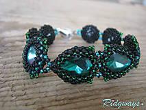 Náramky - Rivoli inšpirácie...Emerald/Black - náramok - 9254860_