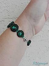 Náramky - Rivoli inšpirácie...Emerald/Black - náramok - 9254964_