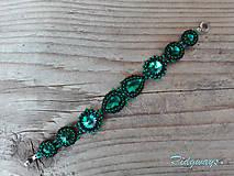 Náramky - Rivoli inšpirácie...Emerald/Black - náramok - 9254967_