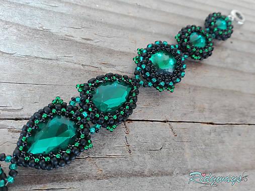 Rivoli inšpirácie...Emerald/Black - náramok