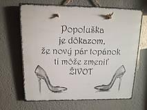 """Tabuľky - tabuľka """"Popoluška"""" - 9254984_"""