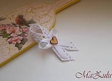 - svadobné pierko Vintage biele - 9253650_