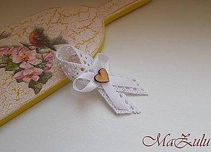 Pierka - svadobné pierko Vintage biele - 9253650_