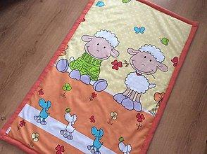 Textil - detská deka ovečky - 9255501_