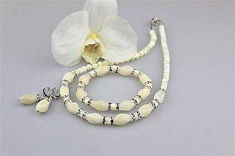 Sady šperkov - mesačný jadeit náušnice náramok a náhrdelník - 9257312_