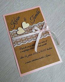 Papiernictvo - Svadobné oznámenie VERNOSŤ C - 9254830_