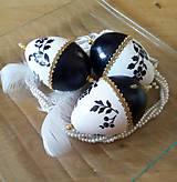 Sada 3 ks - vajíčka čierno - biele I.