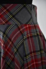 Sukne - maxi kruhová károvaná sukňa - 9255694_