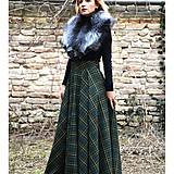 Sukne - maxi kruhová károvaná sukňa - 9255708_