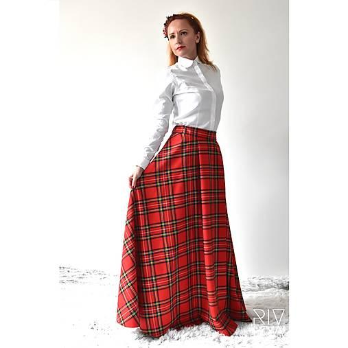 4b9394c69f52 Maxi škótska károvaná sukňa (červené káro)   RIVICA - SAShE.sk ...