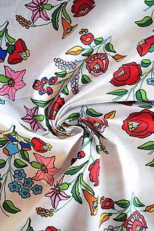 Textil - Bavlněné plátno renforcé kytice vlčí mák - 9256690_