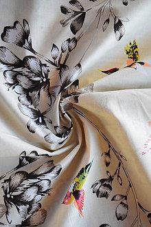Textil - Bavlněné plátno renforcé kolibříci - 9256707_