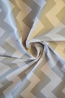 Textil - Bavlněné plátno renforcé chevron světle šedý - 9256791_