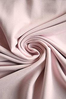 Textil - Teplákovina Micromodal elastická – pudrově růžová - 9256829_
