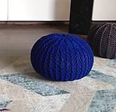 Úžitkový textil - Pufy s objemem 160cm (Tyrkysová) - 9253256_