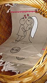 Darčeky pre svadobčanov - EKOtaštičky na svadobnú výslužku pre svadobčanov :-) - 9255137_