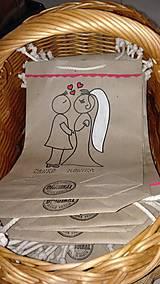 Darčeky pre svadobčanov - EKOtaštičky na svadobnú výslužku pre svadobčanov :-) - 9255138_