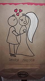 Darčeky pre svadobčanov - EKOtaštičky na svadobnú výslužku pre svadobčanov :-) - 9255141_