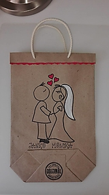 Darčeky pre svadobčanov - EKOtaštičky na svadobnú výslužku pre svadobčanov :-) - 9255146_