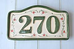 - Číslo domu z keramiky - 9256967_