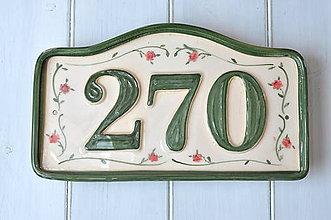 Tabuľky - Číslo domu z keramiky - 9256967_