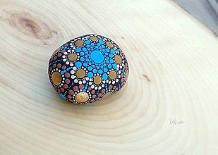 Dekorácie - S nádychom Orientu - Na kameni maľované - 9256622_