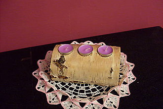 Svietidlá a sviečky - originál z lesa - 9257576_