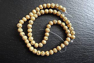 Minerály - Láva zlatá 6mm - 9255595_