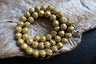 Minerály - Láva zlatá 8mm - 9255613_