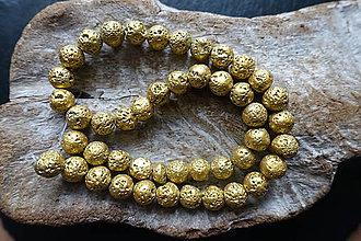 Minerály - Láva zlatá 10mm - 9255672_