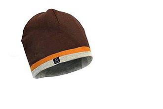 Detské čiapky - Jarná čiapka čoko & horčica - 9255973_