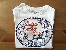 Detské oblečenie - Maľovné ľudovoladené tričko s nápisom