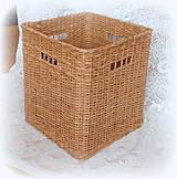 Košík hnedý orechový  (35 x 35 výška 40)